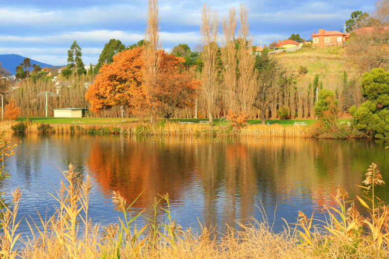 New Norfolk, Tasmania stock photo