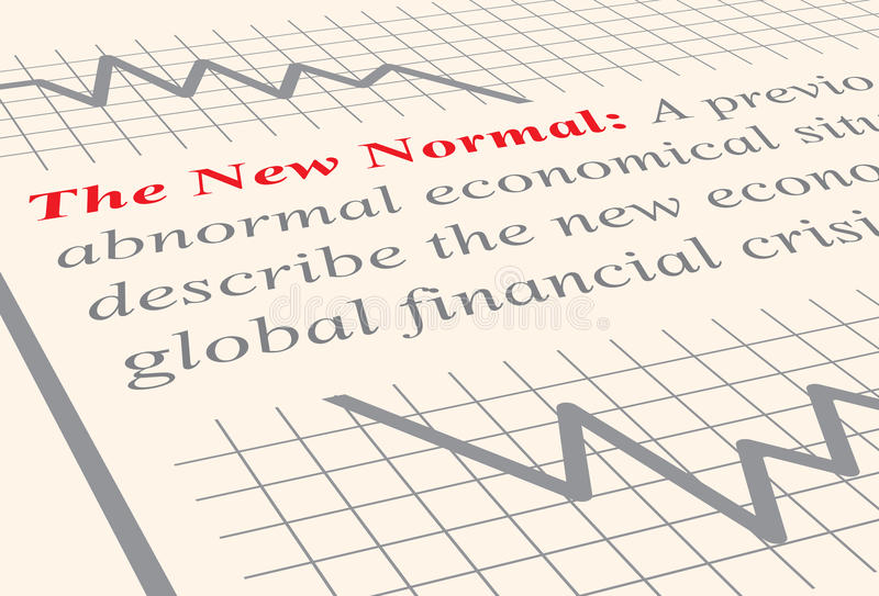The New Normal stock illustration