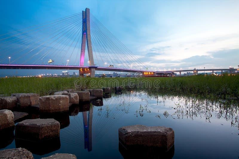 The new North Bridge Sunset, New Taipei City, Taiw stock photo
