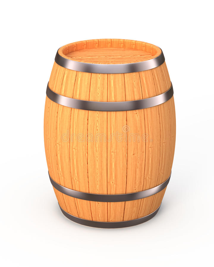 New oak barrel stock illustration