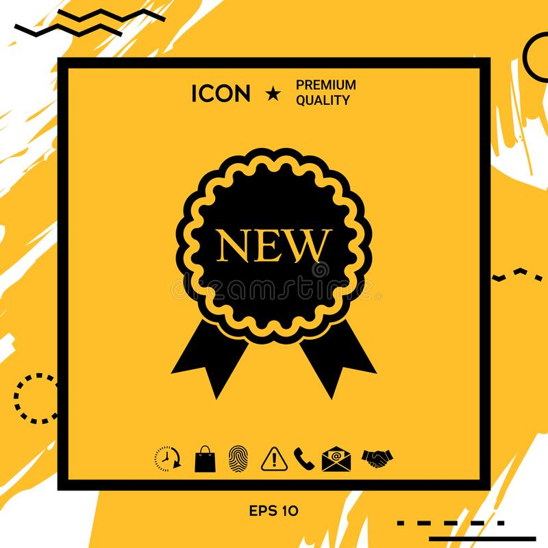 New offer icon with ribbons vector illustration