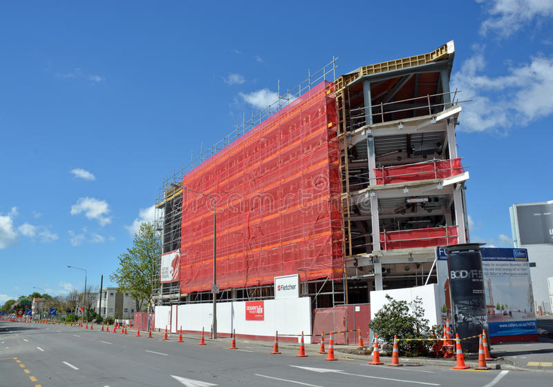 New Office Block on Victoria Street Near Completion. stock photos