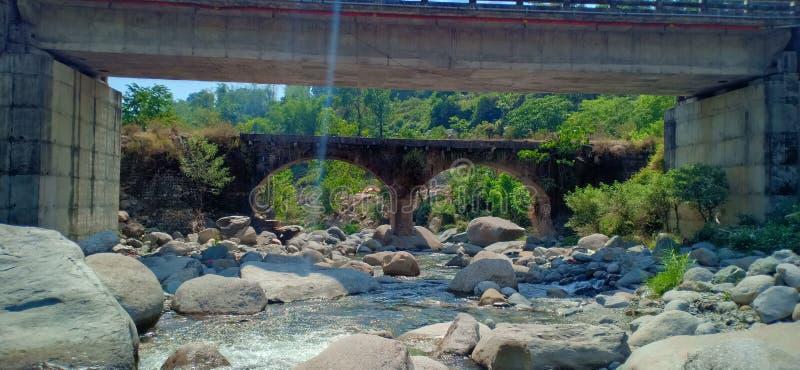 New and old bridge near Dharamshala Himachal Pradesh. Old and new bridge royalty free stock photo