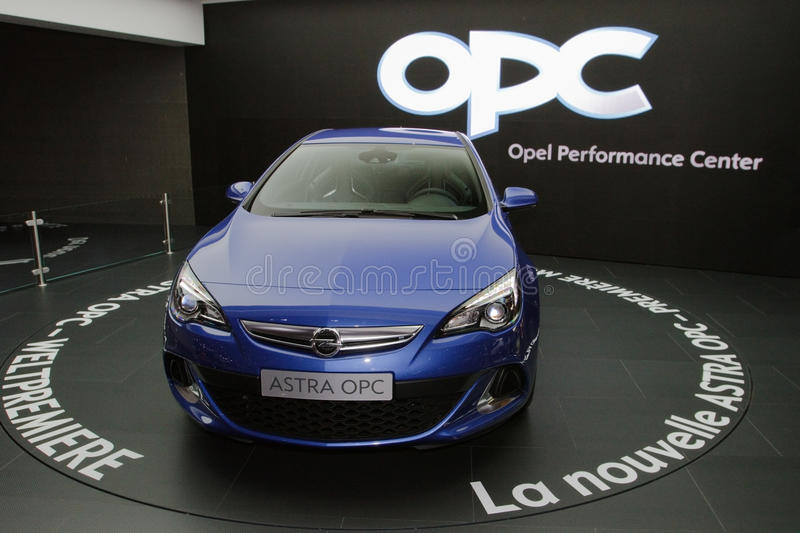 Download New Opel Astra OPC 2013 - Geneva Motor Show 2012 Editorial Photography - Image: 23982257