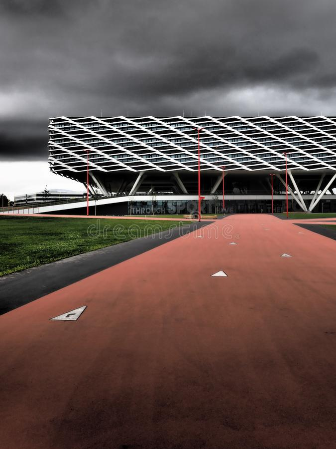 Herzogenaurach, Germany - August 19, 2019:  The new 2019 opened headquarter of global sports brand Adidas. The new 2019 opened headquarter of global sports brand stock photo
