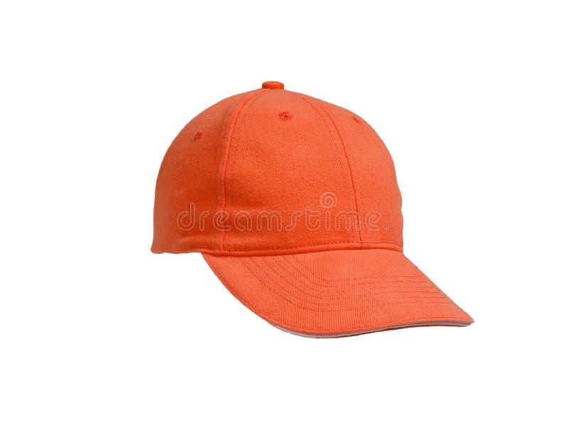 New Orange Baseball Cap royalty free stock images
