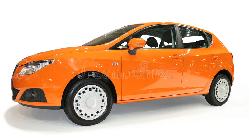 New orange car stock photos