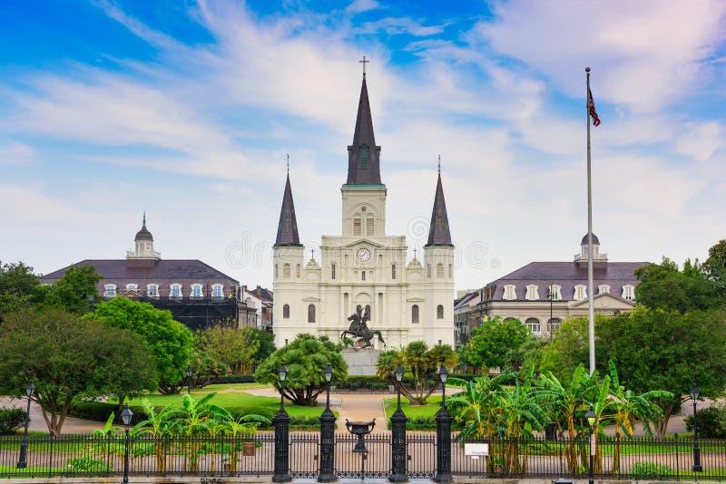 New Orleans bei Jackson Square lizenzfreie stockfotos