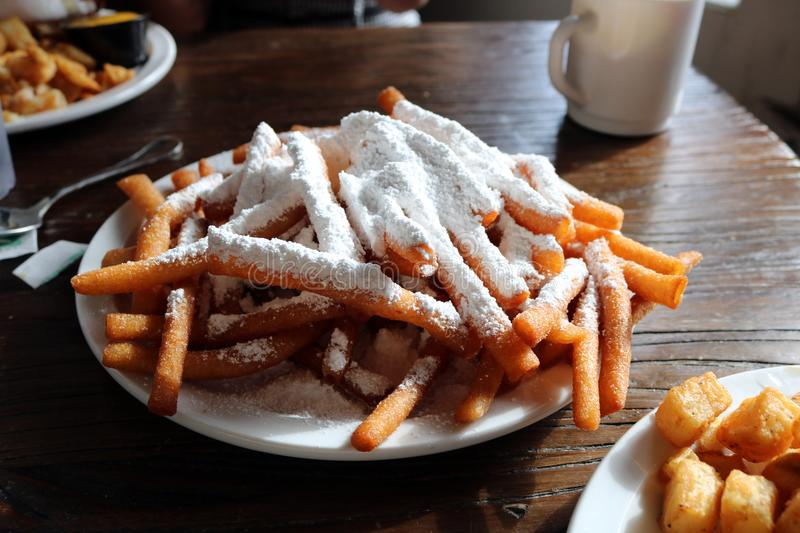 New Orleans Beignets Coffee Classic. Of the death city stock photo