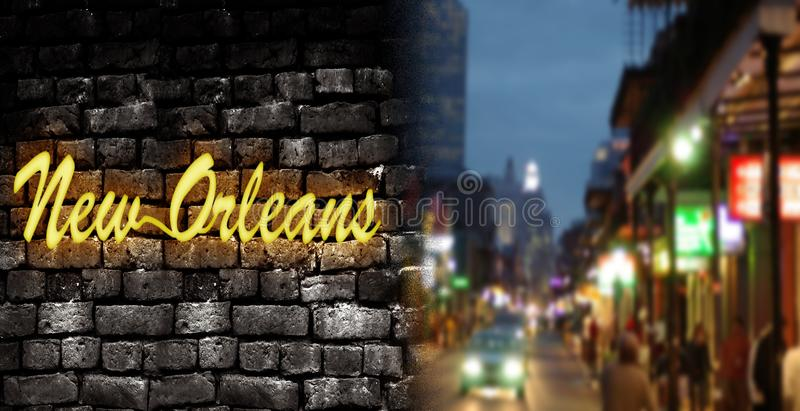 New Orleans Bourbon St royalty free stock image