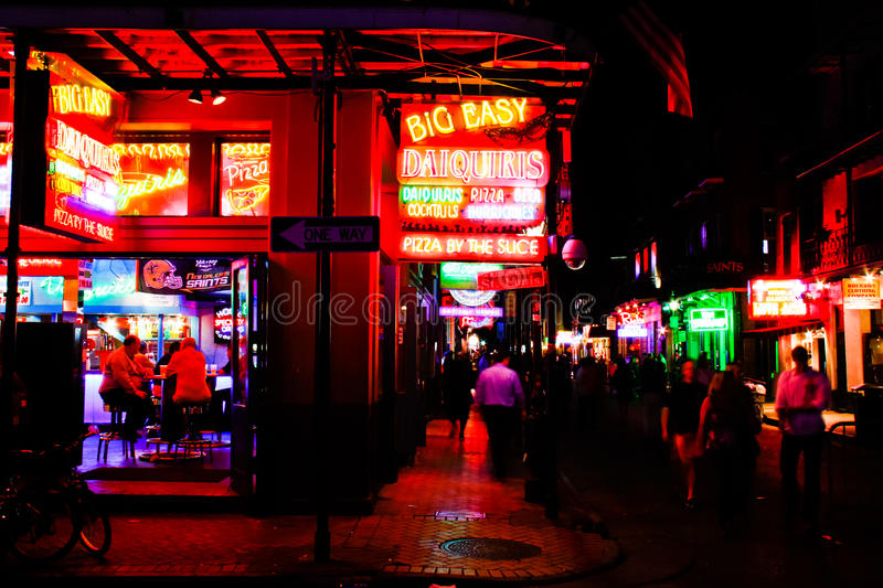 New Orleans Bourbon Street Party! royalty free stock image