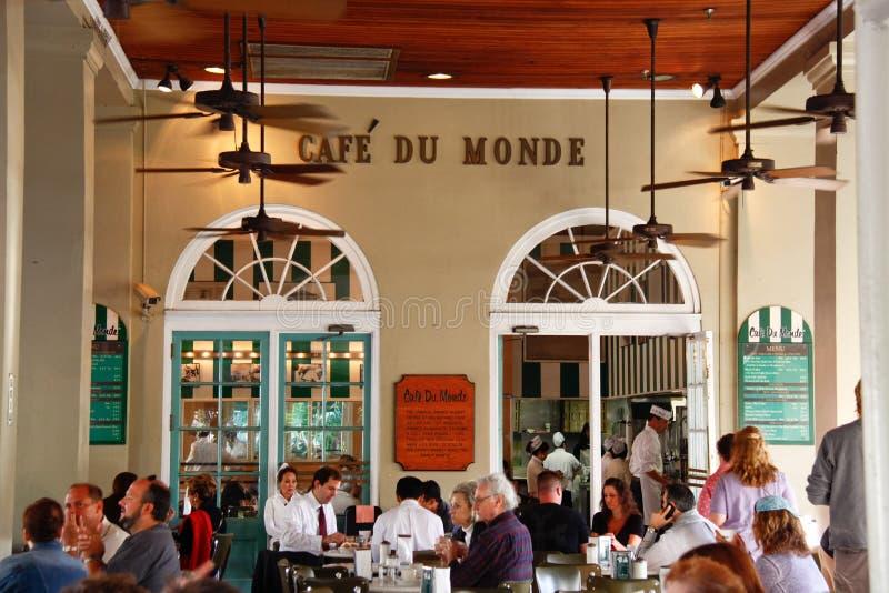 New Orleans Cafe Du Monde Patrons fotos de archivo libres de regalías