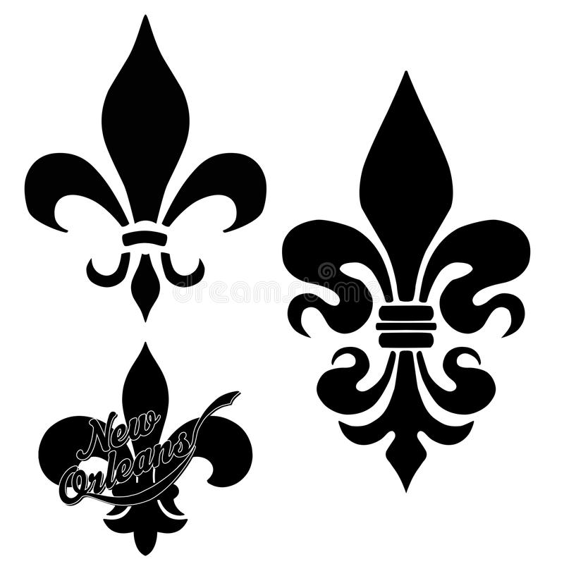 New Orleans Fleur de Lis stock illustrationer
