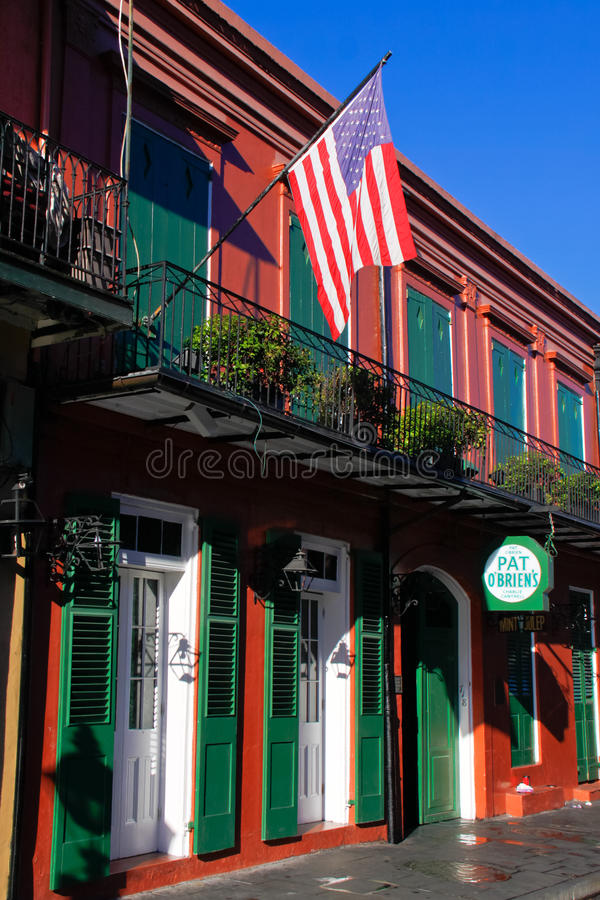 New Orleans French Quarter Pat Obriens royalty free stock images