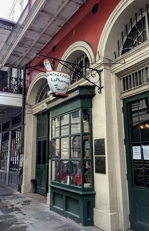 New Orleans French Quarter Pharmacy Museum stock image