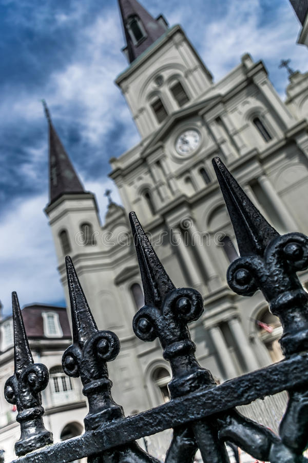 New Orleans French Quarter Saint Louis Cathedral. New Orleans Saint Louis Cathedral royalty free stock image