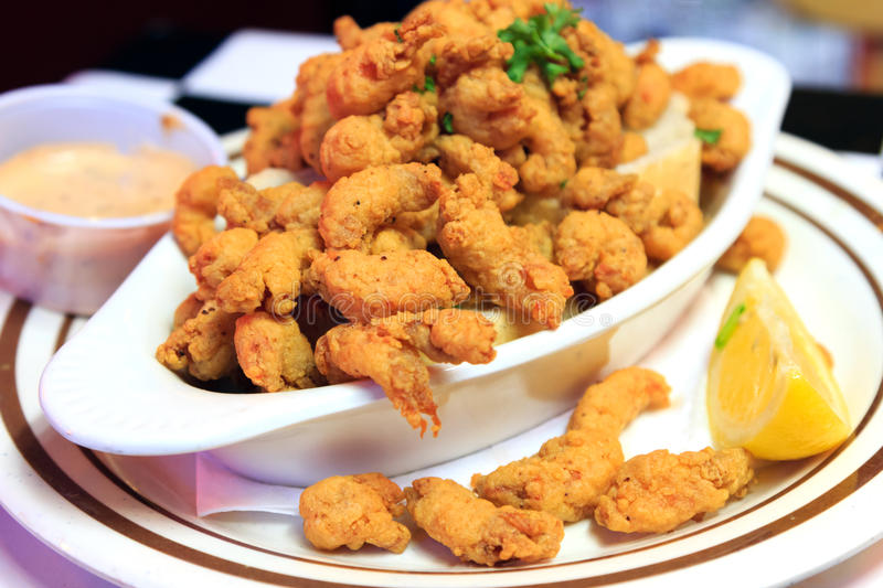 New Orleans Fried Crawfish arkivbild