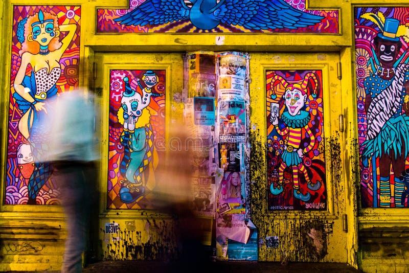 New Orleans gatakonst fotografering för bildbyråer