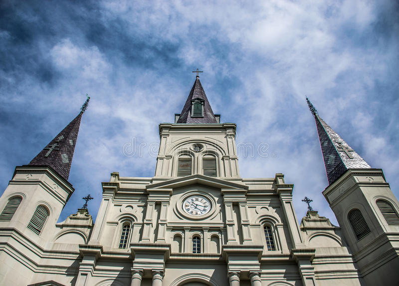New Orleans helgon Louis Cathedral French Quarter arkivfoton