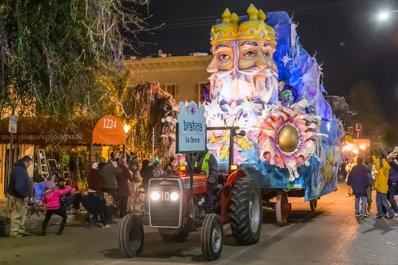 New Orleans, LA/USA - circa February 2016: The Creator, Brahma, in parade during Mardi Gras in New Orleans, Louisiana royalty free stock photography