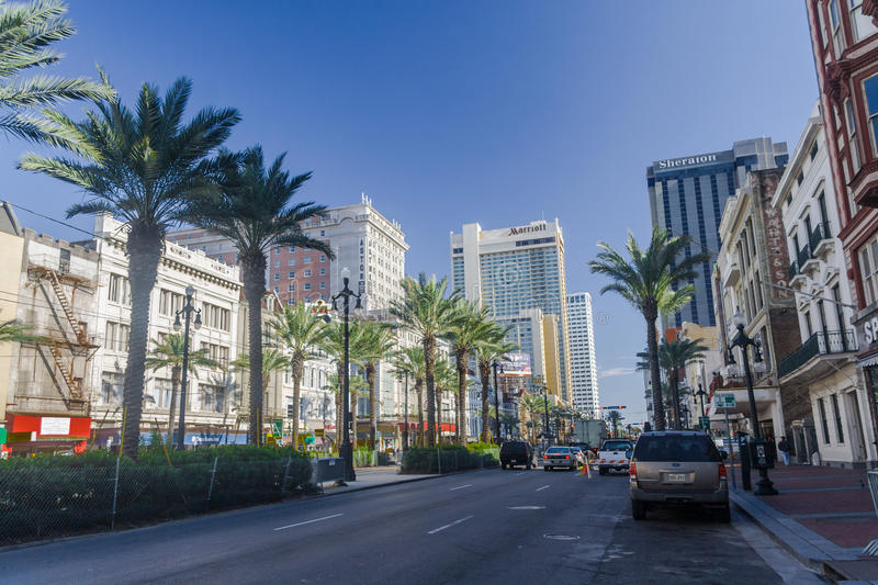 New Orleans, LA/USA - circa January 2008: Canal Street in New Orleans, Louisiana stock image