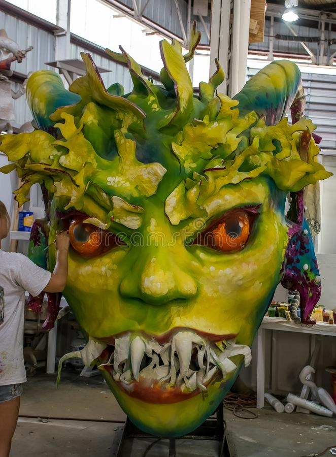 New Orleans Mardi Gras World - Monster royalty free stock images