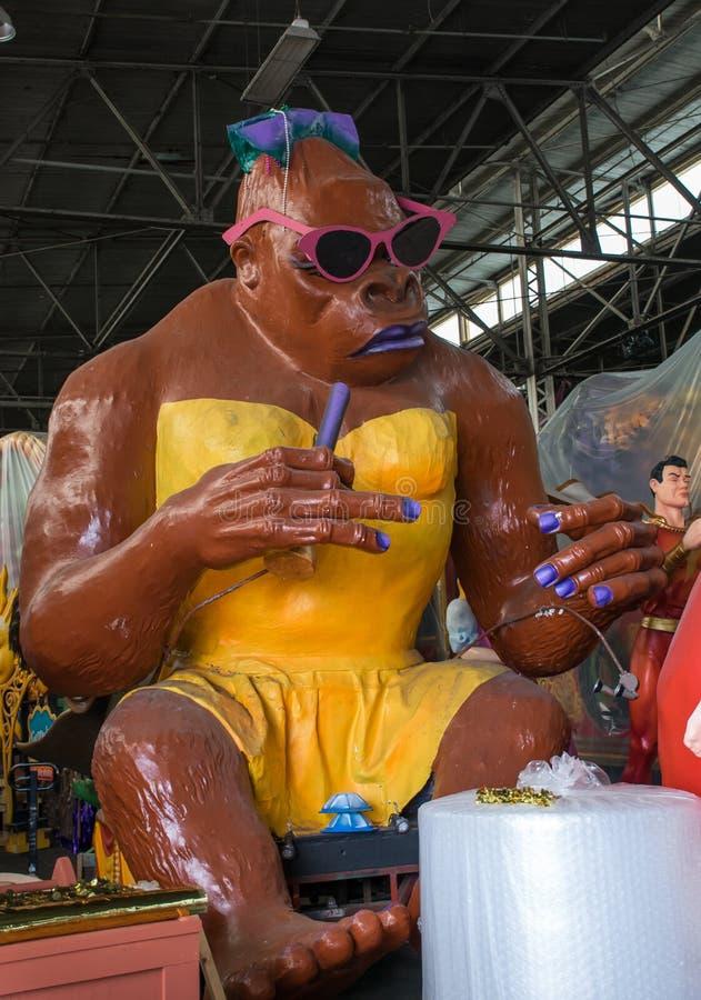 New Orleans Mardi Gras World - Smoking Ape stock photos
