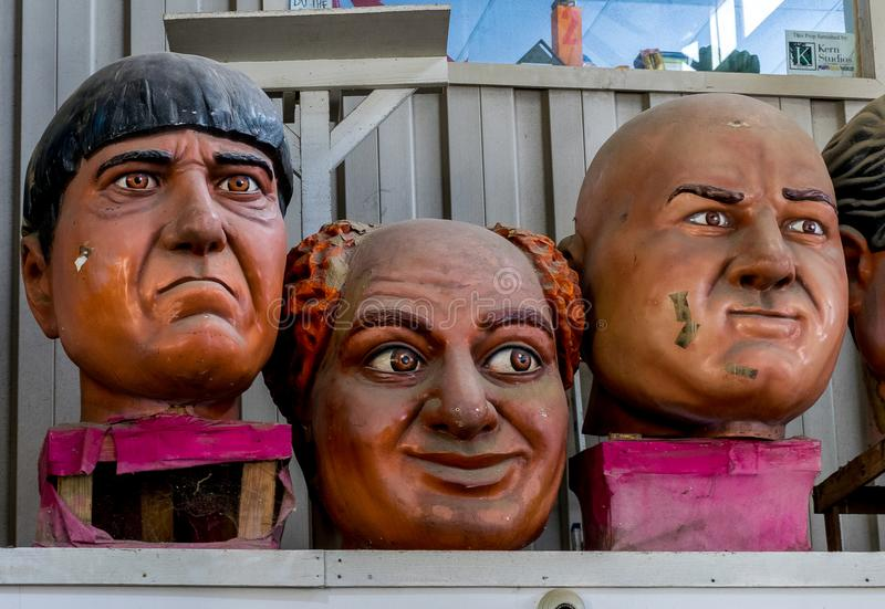 New Orleans Mardi Gras World - Three Stooges royalty free stock photo