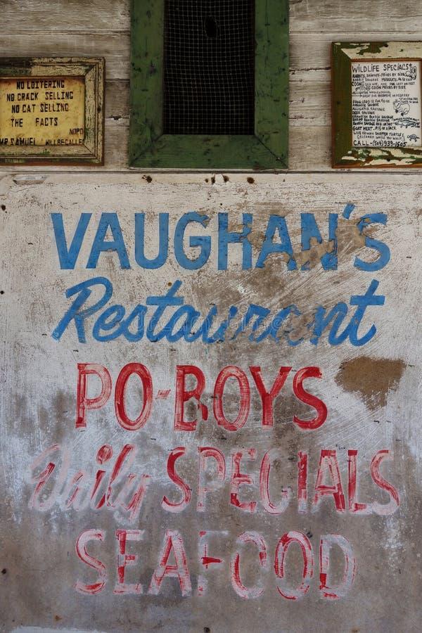 NEW ORLEANS, LA/USA -03-19-2014: Restauran famoso del ` s de Vaughan fotos de archivo