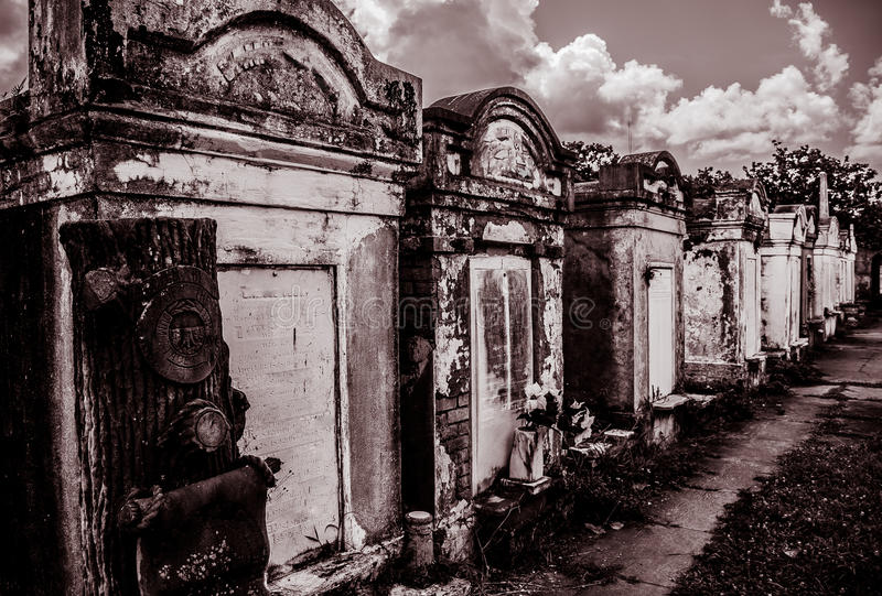 New Orleans Lafayette Cemetery Gate royalty free stock photo