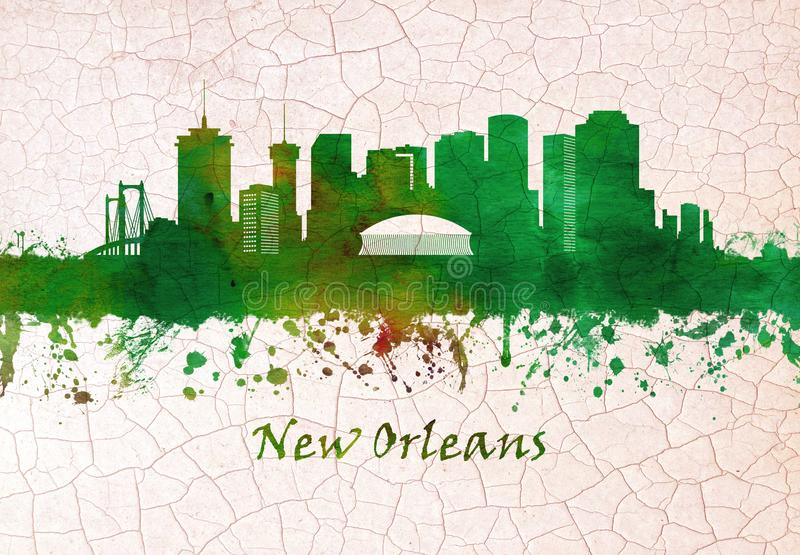 New Orleans Louisiana horisont vektor illustrationer