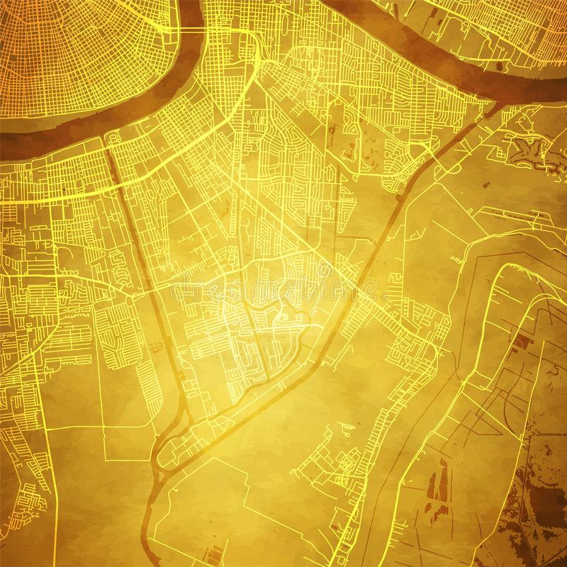 Free New Orleans Louisiana Map Section Stock Image - 154451681