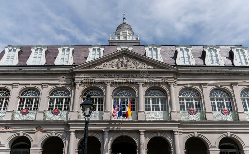 New Orleans Louisiana statmuseum Cabildo royaltyfri bild