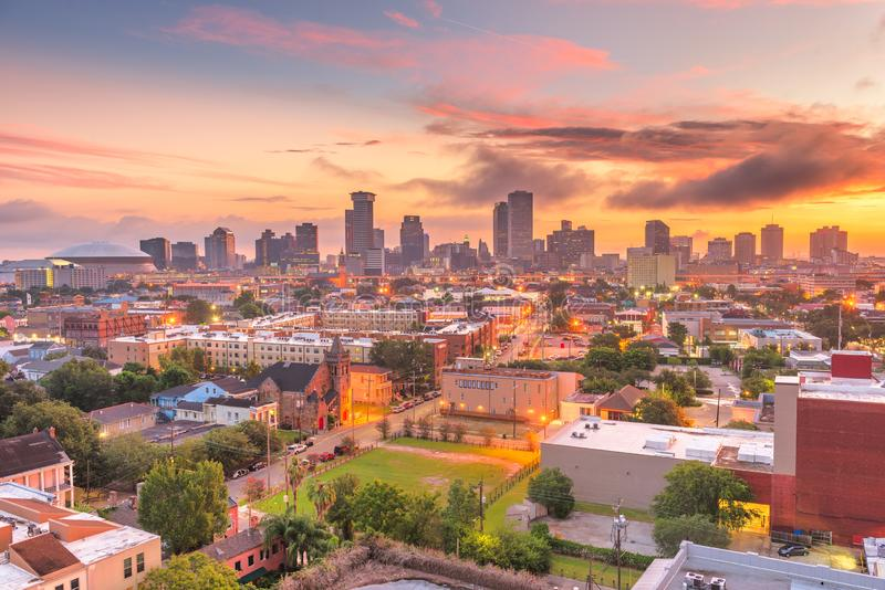 New Orleans, Louisiana, USA downtown city skyline royalty free stock photo