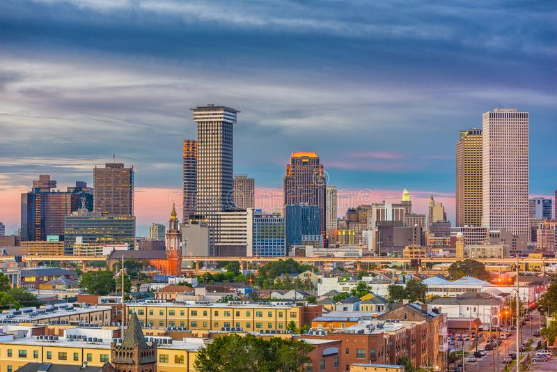New Orleans, Louisiana, USA Skyline stock photography