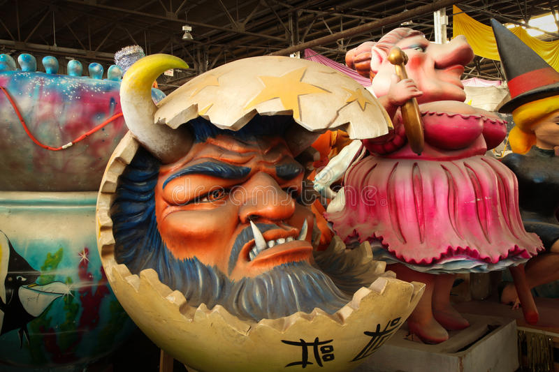New Orleans - Mardi Gras Float. Image of Mardi Gras Float in New Orleans. Photographed indoors during the day stock image