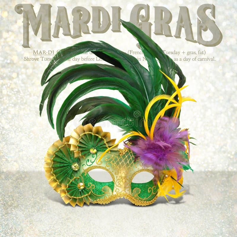 New Orleans Mardi Gras Mask Collection fotografía de archivo libre de regalías