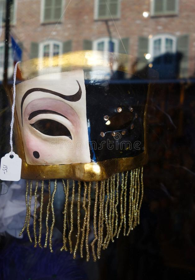 New Orleans Mardi Gras MASKERING arkivbild