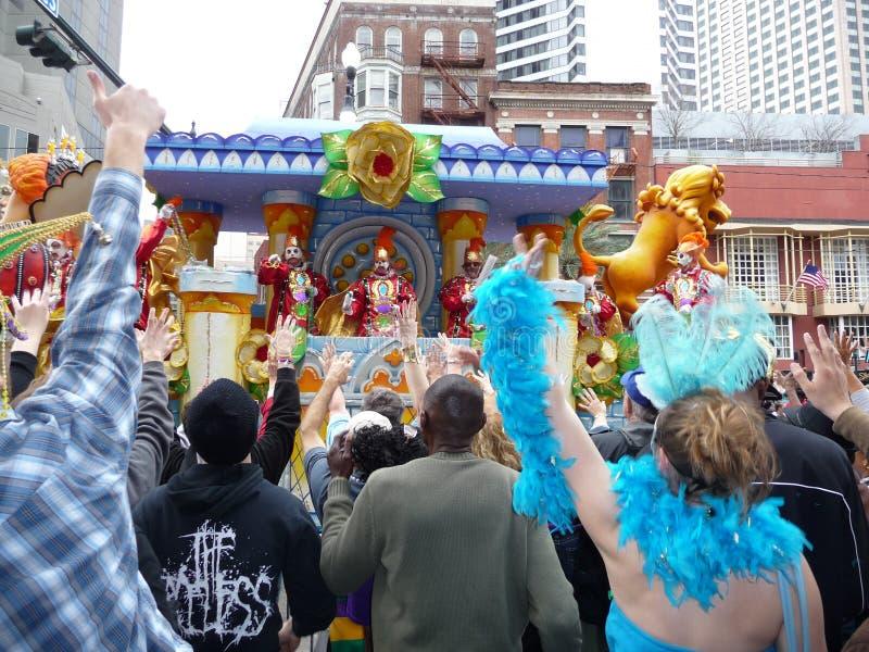 New Orleans Mardi Gras Parade immagini stock libere da diritti
