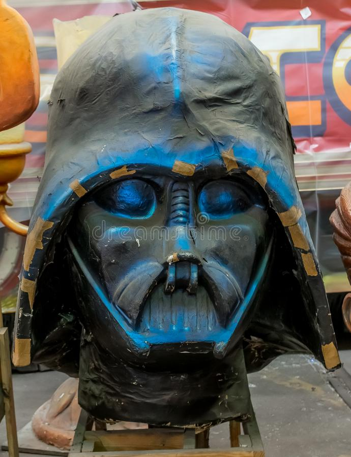 New Orleans Mardi Gras World - Darth Vader royalty free stock images