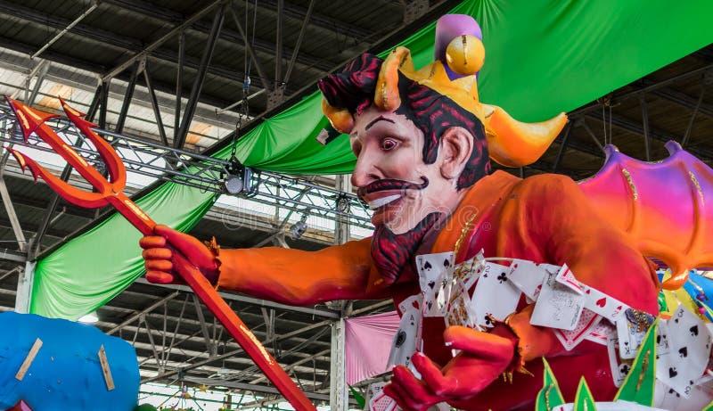 New Orleans Mardi Gras World Float Poker Devil stock photo