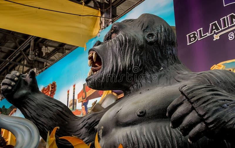 New Orleans Mardi Gras World - King Kong stock photography