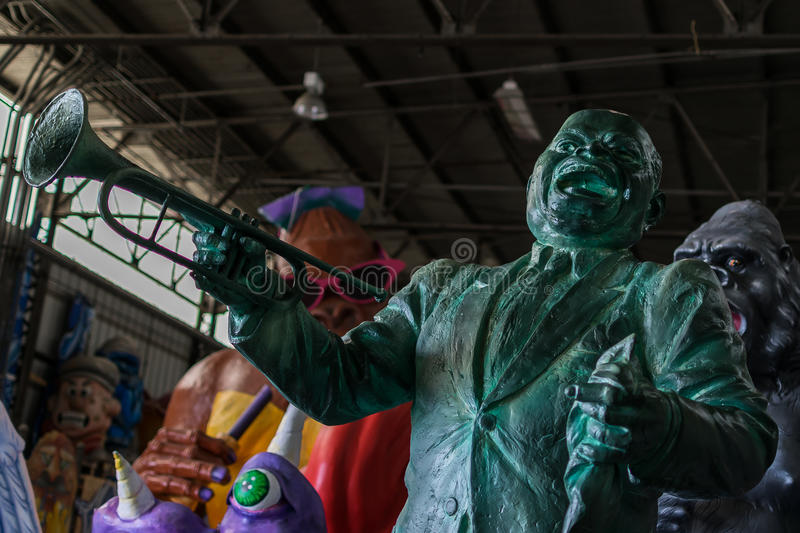 New Orleans Mardi Gras World - Louis Armstrong royalty free stock photography