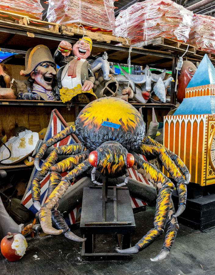 New Orleans Mardi Gras World - Spider stock images