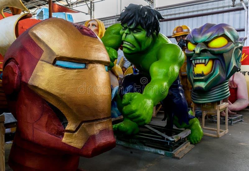 New Orleans Mardi Gras World - Superheroes royalty free stock photography