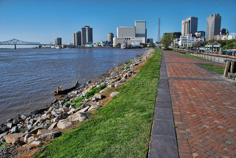 New Orleans and the Mississippi stock photo