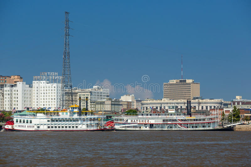 New Orleans paddle steamer royalty free stock photo