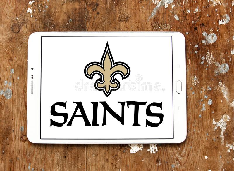 New Orleans Saints American Football Team Logo Editorial Stock Image