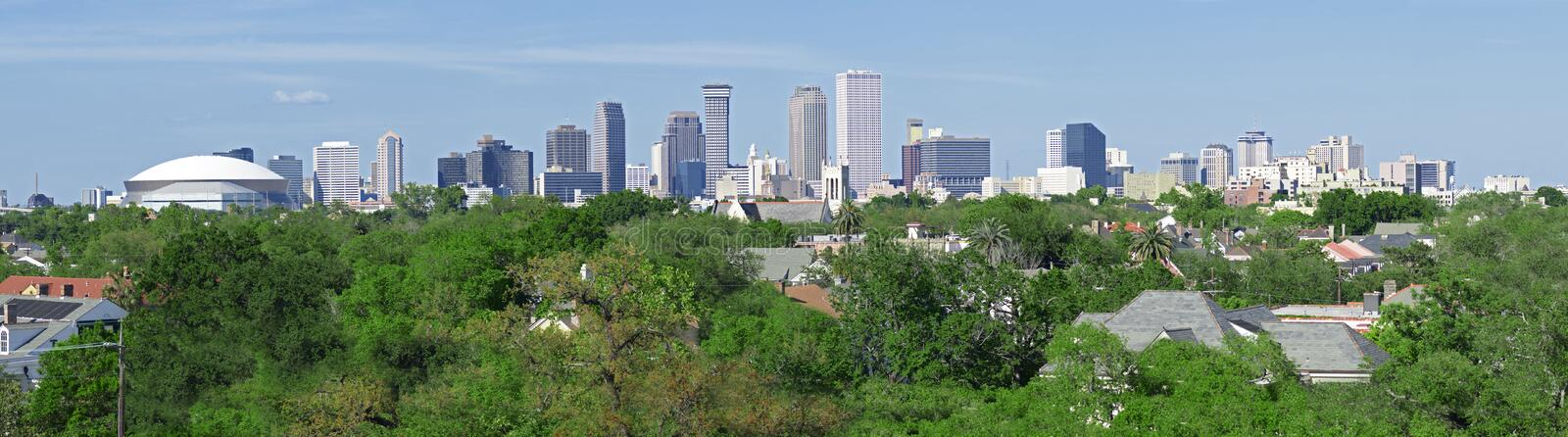 New Orleans Skyline Panorama stock photography