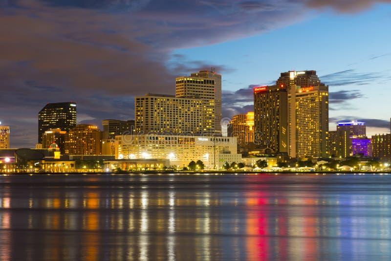 New Orleans skyline at twilight, Louisiana, USA royalty free stock image